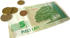 Latvian currency in danger